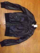 Lee Varsity Bomber Jacket Wet Look In Black, M