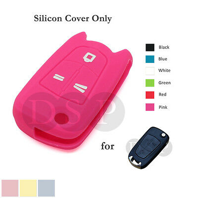 Silicone Cover fit for Opel OPEL VAUXHALL SATURN Flip Remote Key Case Shell PK