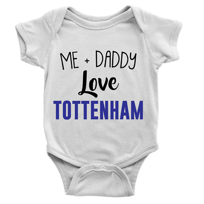 Me And My Dad Love Tottenham Football Baby Bodysuit Novelty