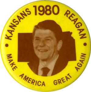 scarce 1980 kansans for ronald reagan make america great again
