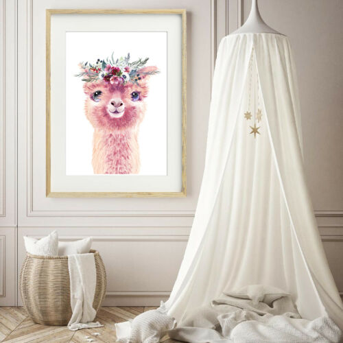 Llama Print// Nursery Wall print//Llama Nursery wall  decor//Girls bedroom print//