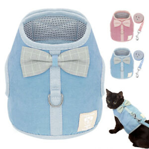 Escape-Proof-Cat-Walking-Harness-amp-Leash-Puppy-Chihuahua-Harness-Vest-Air-Mesh