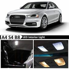 18x White Interior LED Lights Package Kit for 2009-2015 Audi A4 S4 B8 Error Free