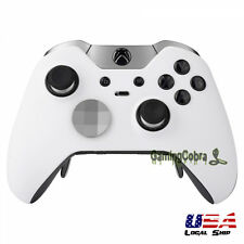 Soft Touch White Custom Front Housing Shell for Xbox One Elite Game Controller