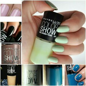 Maybelline Color Show Veils Nudes Nail Polish-BlueLilacRedPinkGreen-BUY2GET1FREE