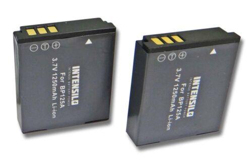 2x BATERIA INTENSILO 1250mAh para Samsung IA-BP125A IA-BP 125A IABP125A