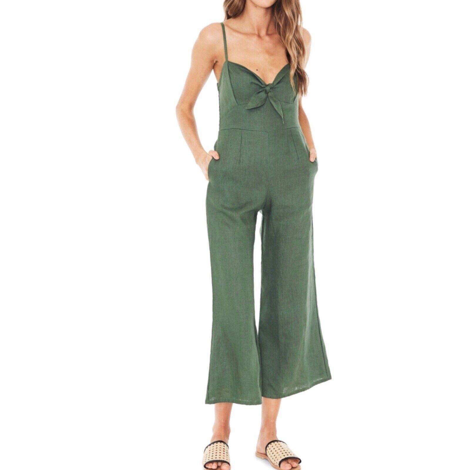 Anthropologie Faithful The Brand Presley Wide-Leg Jumpsuit Woman Sz XL New  209