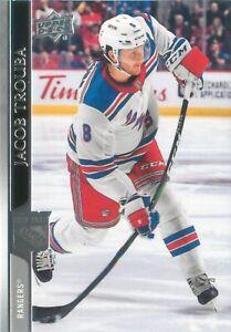 Jacob Trouba 2020-21 Upper Deck Series 1 Hockey Base Card #125 New York Rangers