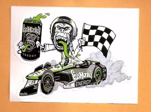 Gas monkey garage energy drink sticker indy car for Garage energy automobiles