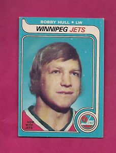 1979-80-OPC-185-JETS-BOBBY-HULL-EX-MT-CARD-INV-A4345