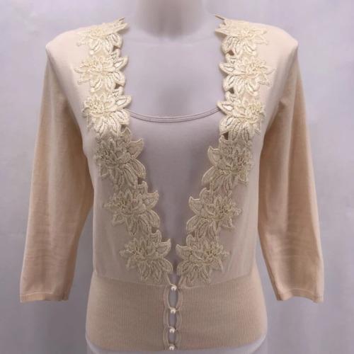 Mainbocher Tan Cardigan Sweater Medium