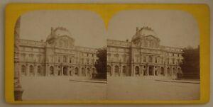 Parigi-Il-Louvre-Museo-Francia-Foto-Stereo-L44-Vintage-Albumina-c1870