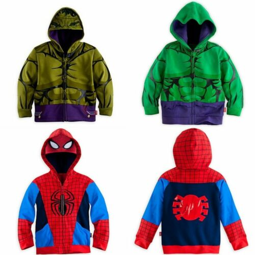 Kids Boys The Avengers Hooded Jacket Coat Long Sleeve Sweatshirt Outwear Tops