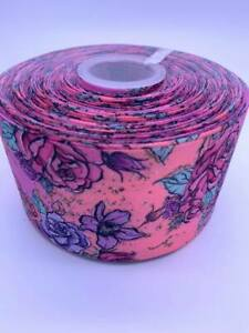 Flowers-Grosgrain-Ribbon-75mm-Width-Buy-3-get-4th-Free