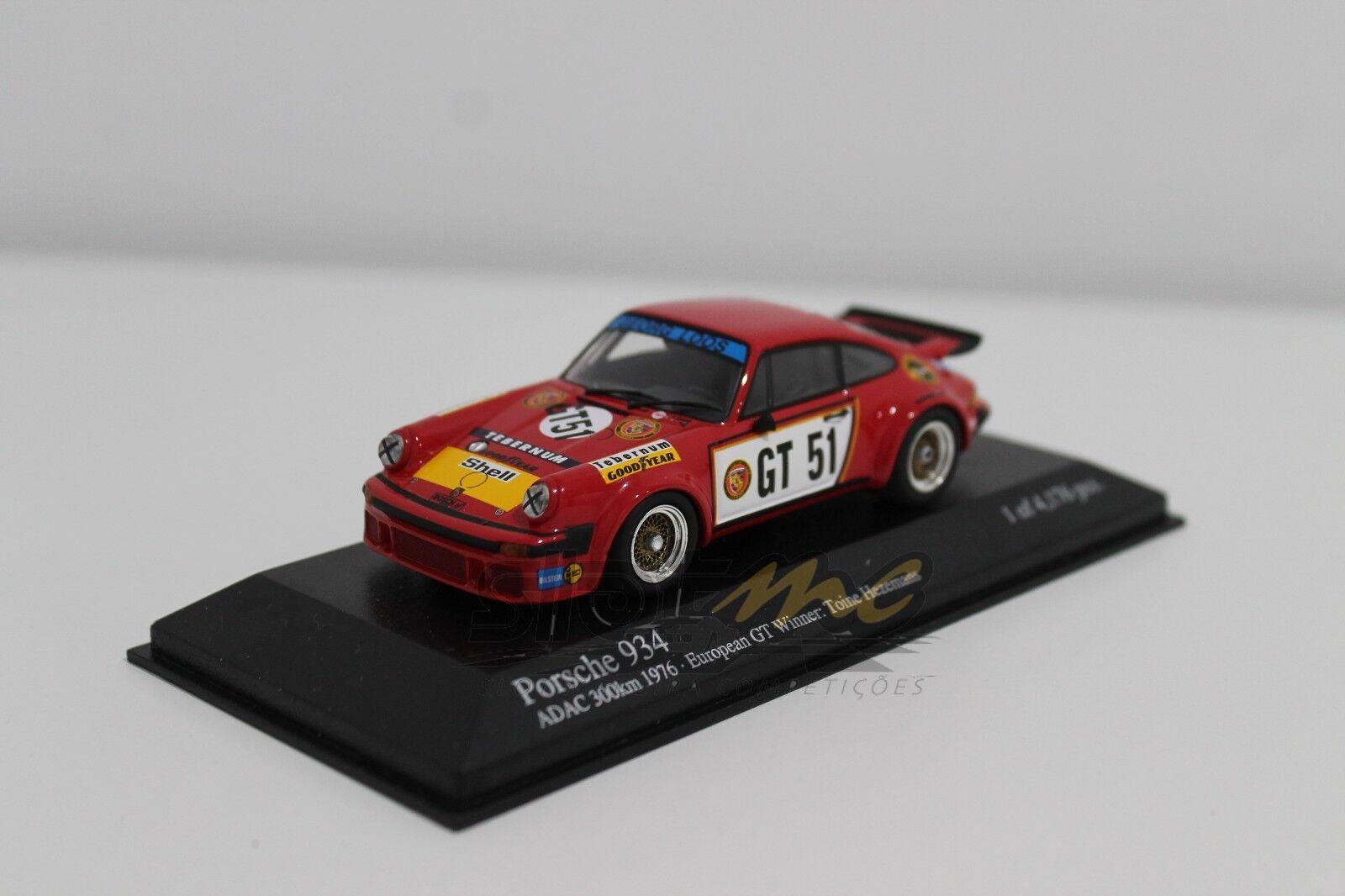 MINICHAMPS 400766451 Porsche 934 Toine Hezemans Winner 300 km EGT 1 43  NEW