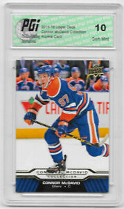 Connor-McDavid-2015-16-Upper-Deck-Collection-CM-10-Rookie-Card-PGI-10-Oilers