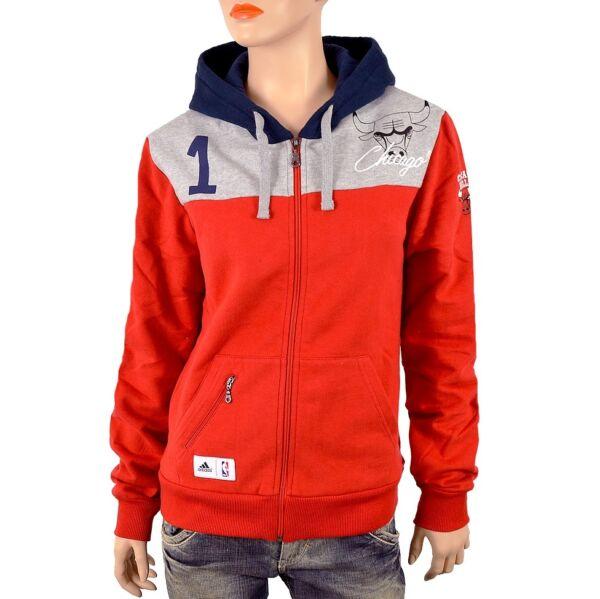 Adidas Chicago Bulls 1 Hoody Damen Sweat Jacke Kapuzen Pullover s m Hoodie rot