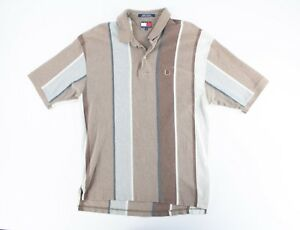 2b6fc06b Image is loading VTG-90s-Tommy-Hilfiger-Striped-Colorblock-Lions-Crest-