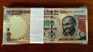 2011 P-100 Gandhi Uncirculated India 1000 Rupees 1,000