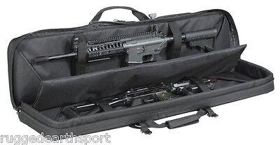 "Black Vism 36"" Double Carbine Rifle .223 5.55 7.62 Tactical Gun Case Backpack"