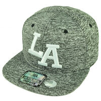 La Los Angeles California Athletic Ash Pattern Snapback Flat Bill Brim Hat Cap