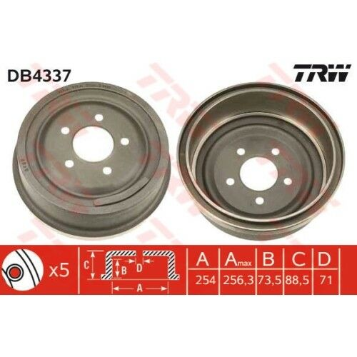 ORIGINAL TRW TAMBOUR TAMBOUR FREIN ARRIERE FORD FORD USA