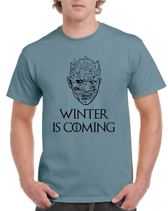 Game-Of-Thrones-Night-King-Winter-Is-Coming-White-Walker-Blue-GOT-T-SHIRT-S-XL