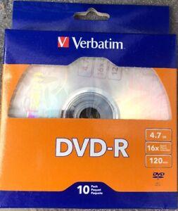 10-Pack-Verbatim-97957-DVD-R-4-7GB-16X-120-min-Brand-New-Sealed