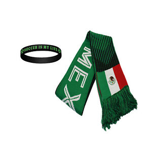 7820691bf5e Mexico Scarf Flag Reversible Soccer FMF National Team Jersey Soccer ...