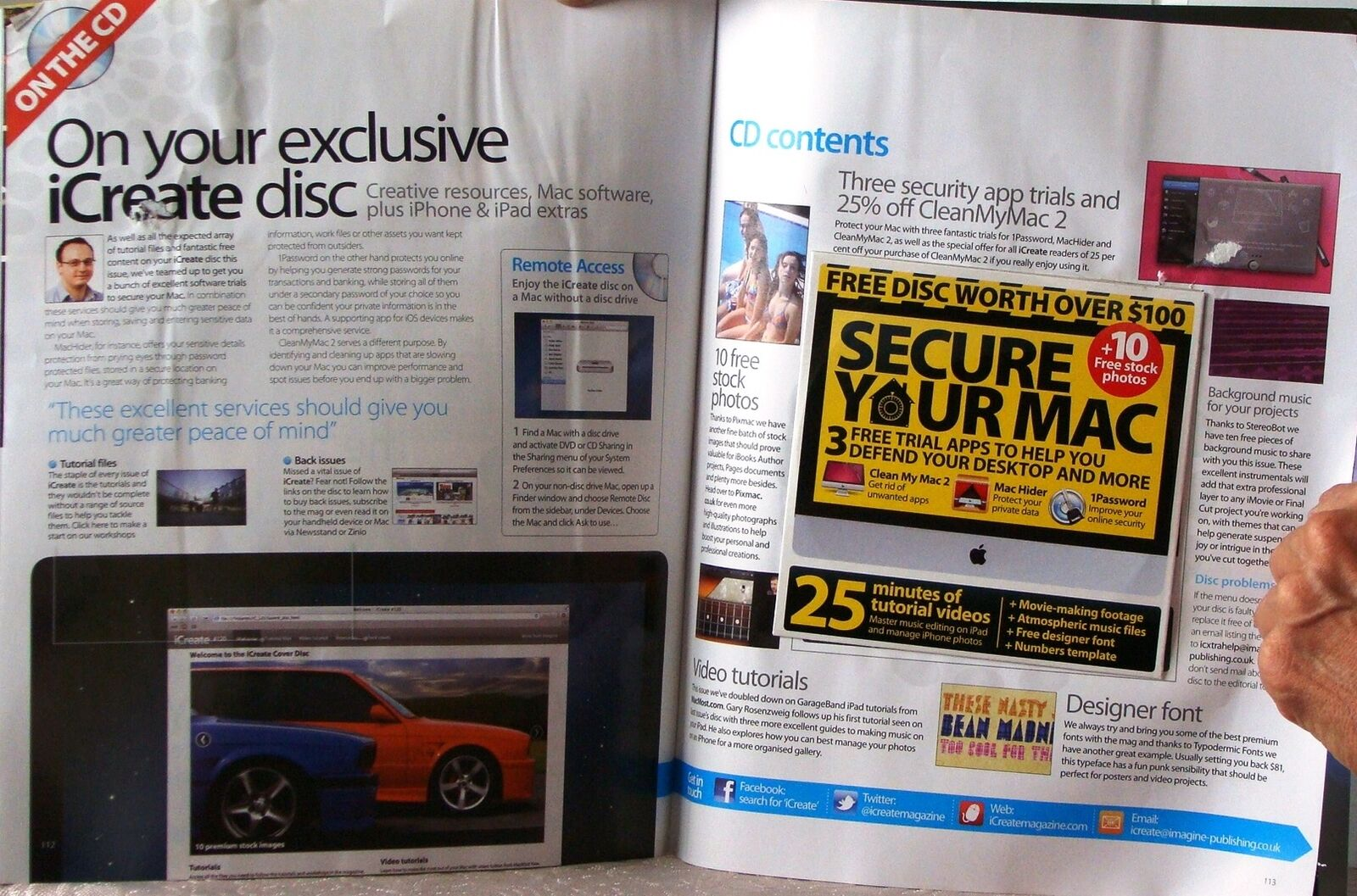 iCreate Magazine Secure Your Mac Disc iPhone Security Tips Printed UK