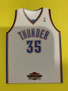 KEVIN-DURANT-2010-11-Panini-Threads-Home-Jersey-Die-Cut-Insert-Thunder-Nets-RARE