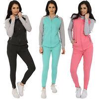 Ladies Women's Tracksuit Active Sports Lounge Wear Jogging Set Sweatshirt
