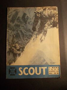 Pierre-JOUBERT-SCOUT-revue-321-de-1957-avec-une-sublime-couverture-de-JOUBERT