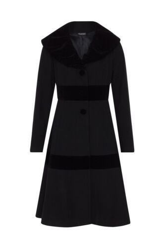 velours Black Voodoo Vintage Rockabilly en Vixen 1950 Manteau Noir pSnxzwZHq