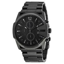 Diesel Master Chief Black Dial Black Stainless Steel Bracelet Mens Watch DZ4180