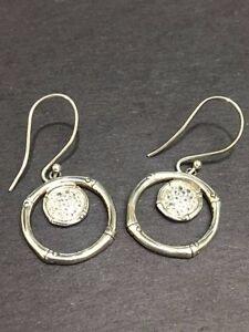 Image Is Loading John Hardy Sterling Silver Bamboo Earrings