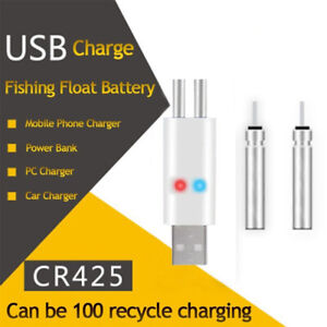 New-Rechargeable-Fishing-Float-Battery-CR425-USB-Charger-For-Electronic-Float-CN