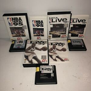 VG-COND-NBA-Live-95-96-97-Complete-CIB-Games-Sega-Genesis-TESTED-Basketball