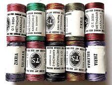 10 Misti Rayon Filo Per Macchina Per Cucire ( 10-Dark misti Color Set )