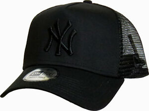 Image is loading NY-Yankees-New-Era-All-Black-Clean-Trucker- af897b5307d1