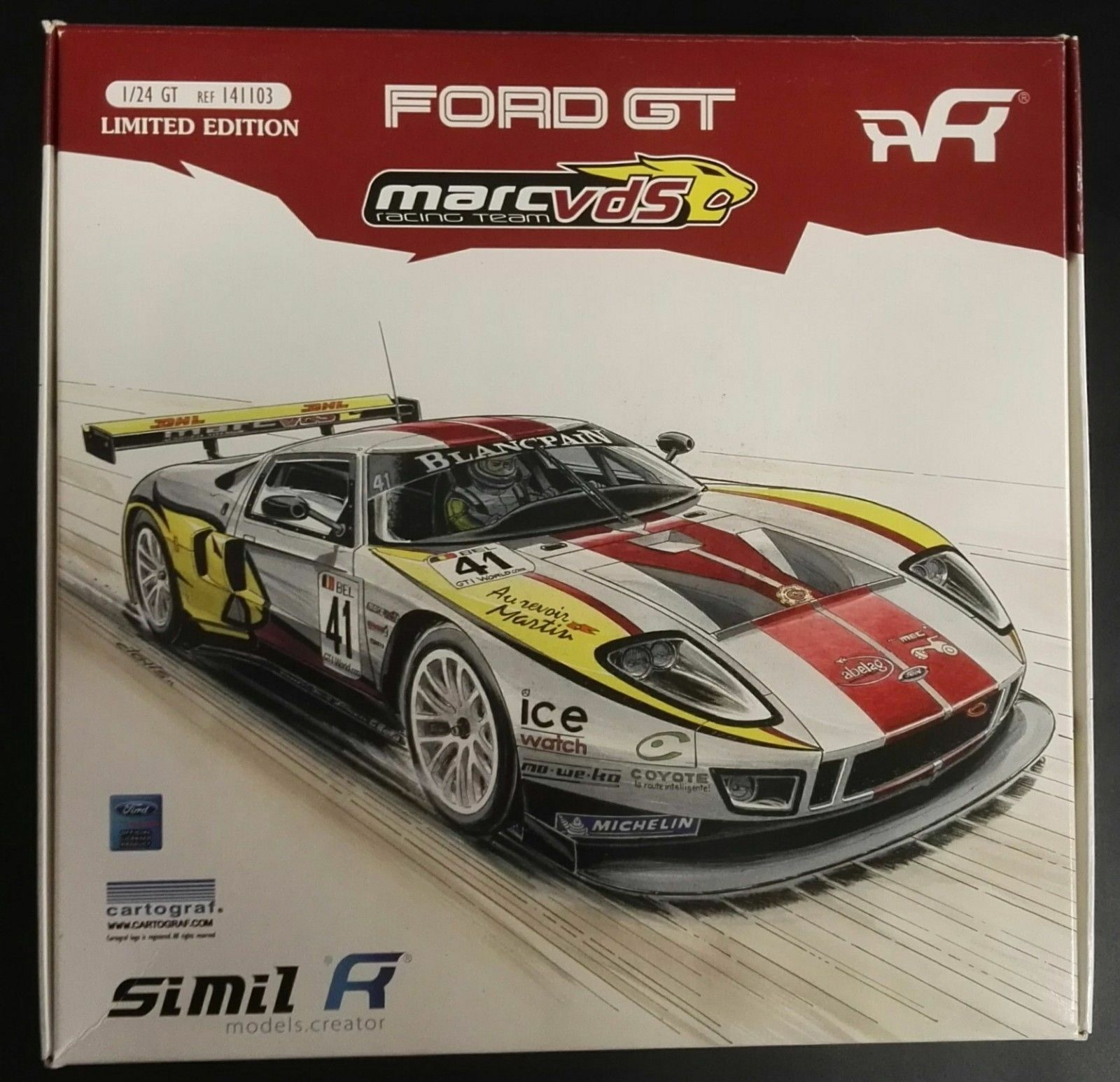 SIMIL R  FORD GT MARC VDS RACING squadra  KIT MONTAGGIO 124  ART. 141103