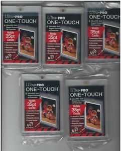 5-Ultra-Pro-One-Touch-35pt-Gold-Magnetic-Card-Holders-UV-Free-Shipping
