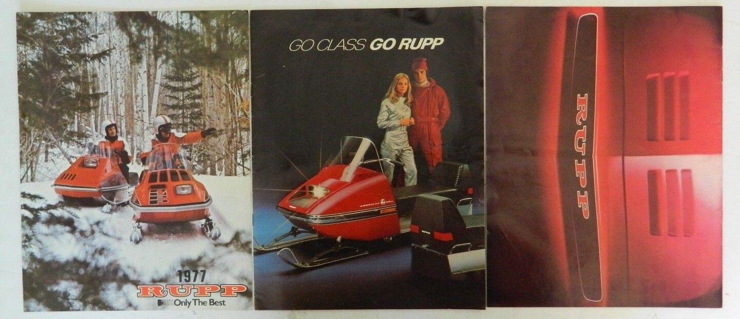Lot of 3 Rupp Snowmoible Brochures  American, Nitro, Yankee, Rogue, Sport