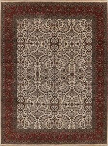 Agra-Oriental-Area-Rug-Handmade-Wool-All-Over-Floral-New-9-x-12-Indian-Carpet