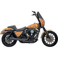 Bassani Black 2-into-1 Exhaust W/ 12 Mufflers No Floorboards Harley Fxr Models