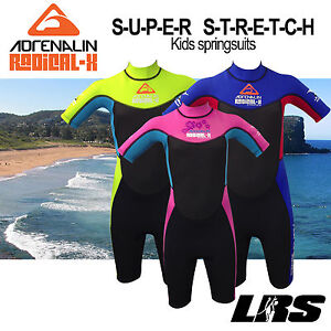 fcf94b366b Image is loading NEW-Adrenalin-kids-Radical-super-stretch-Springsuit-Wetsuit -