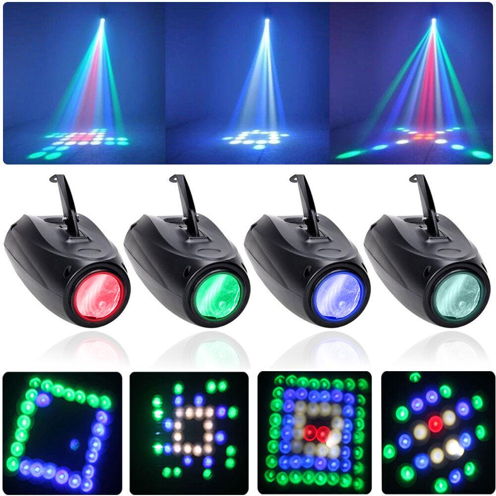 4PCS RGBW U`King Stage Light 12W 64 LEDs Lighting Laser Effect DJ Party Wedding