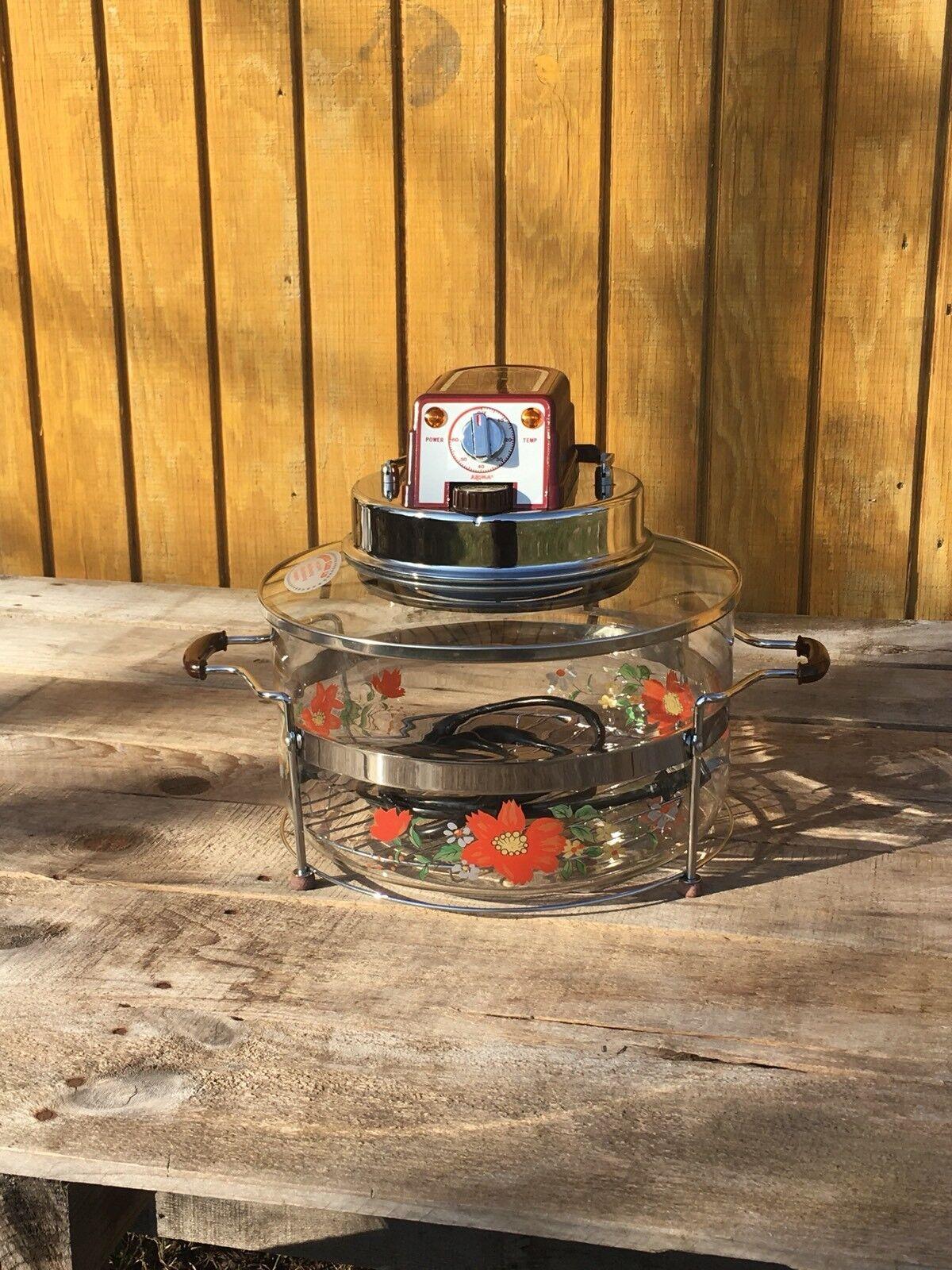 """Aroma Super Turbo Four MDL LEN-100 Peint Verre 110 V 950 W 12""""x12"""""""