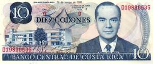 02 Costa Rica P237b 10 Colones 1980 Unc