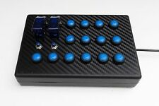 PS4 BBJ SimRacing USB 18 function button box Playstation 4 PS4 Project CARS Blue